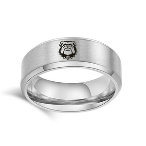 NCAA GEORGIA BULLDOGS Titanium sport team logo Ring - Snag Your Treasure