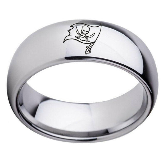 NFL Tampa Bay Buccaneers Football Team Stainless Steel Silver Ring - Snag Your Treasure