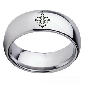 NFL New Orleans Saints Football Team Silver Stainless Steel Ring - Snag Your Treasure