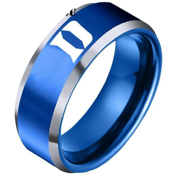 NCAA Duke Blue Devils Ring sport team logo Titanium Steel - Snag Your Treasure