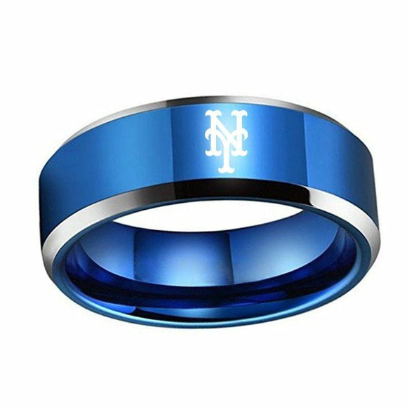 MLB New York Mets  Blue Titanium team Ring - Snag Your Treasure