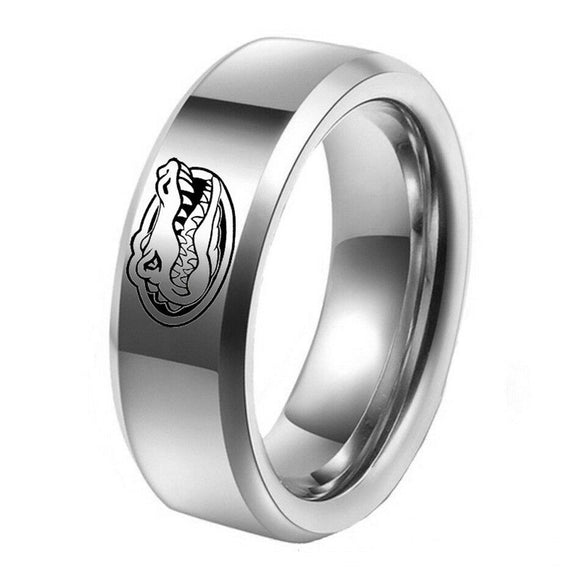 NCAA Florida Gator sport team logo Titanium Steel Ring - Snag Your Treasure