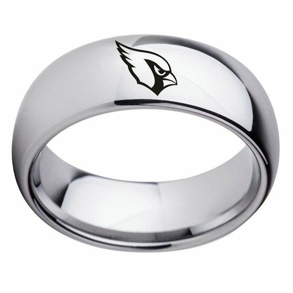 NFL Arizona Cardinals Football Team Silver Stainless Steel Band Rings  - Snag Your Treasure
