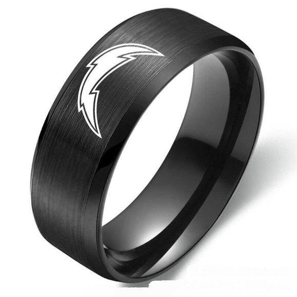 NFL Los Angeles Chargers Football Team Stainless Steel Ring Band - Snag Your Treasure