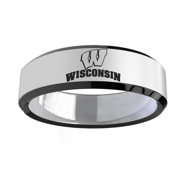 NCAA WISCONSIN BADGERS Titanium sport team Ring - Snag Your Treasure
