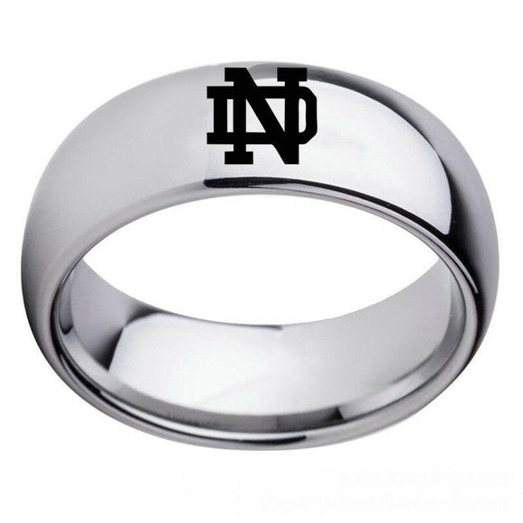 NCAA University of Notre Dame Stainless Steel Silver Ring - Snag Your Treasure
