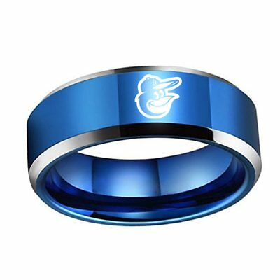 MLB Baltimore Orioles Stainless Steel Logo Team Blue Ring - Snag Your Treasure