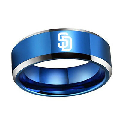 MLB San Diego Padres Stainless Steel Logo Team Ring - Snag Your Treasure