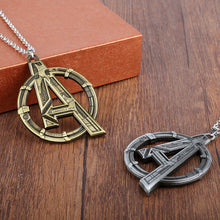 MQCHUN  Movie Jewelry Marvel's The Avengers Logo Superhero Marvel Necklace Men Charms Necklace accessories Men Gift