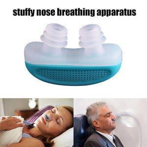 2 In 1 Anti Snoring & Air Purifier Relieve Snoring Nose Breathing Apparatus Stop Snoring Devices Anti Snoring Nose Clip Night Sleeping Aid
