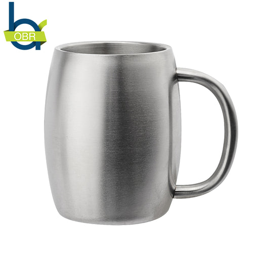 Stainless Steel Coffee Mug  Double Wall Water Mug Traveling Outdoor Camping Sports Mugs For Home Bar