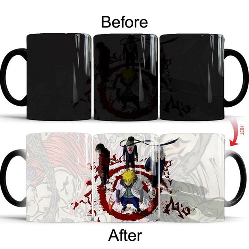 Naruto Sasuke vs Itachi Uchiha Hot Cold Heat Temperature Sensitive Color Changing  Coffee Tea Mug Cup best gift for your friends
