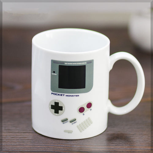 Game Machine Color Changing Mug Cute Pikachu Porcelain Coffee Cup Heat Reveal Magic Milk Tea Cup Gift For Kids