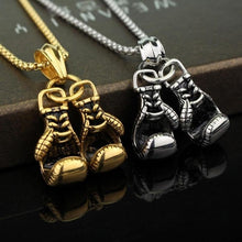 1Pcs Jewelry 3D Boxing Glove Charm Stainless Steel Pendant Necklace
