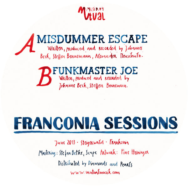 "Studio Bruno - Franconia Sessions - 12"" - Mutual Musik"