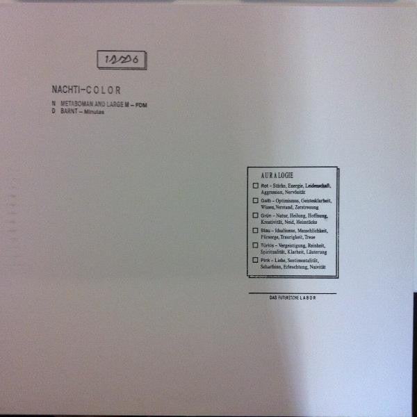 "Metaboman / Barnt - FDM / Minutes - 12"" - Nachti Color"