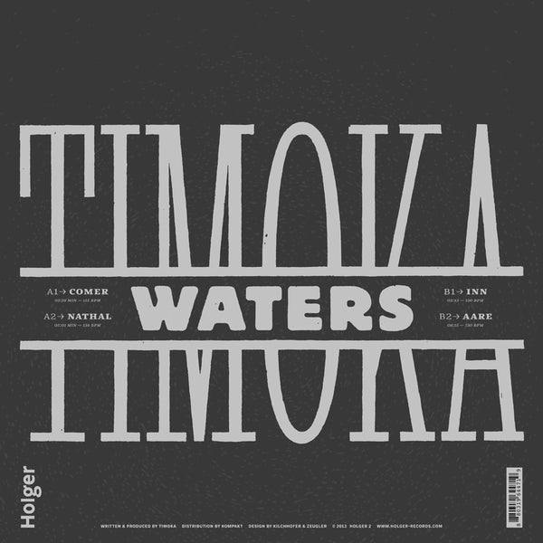 "Timoka - Waters EP - 12"" - Holger Records"