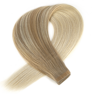Ombre Light Honey Ash Brown to Light Ash Blonde Tape in Hair Extensions