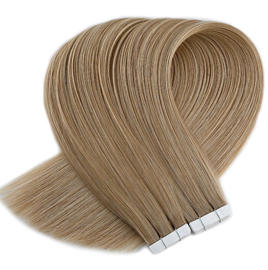 Sandy Beige Natural Blonde Tape in Hair Extensions