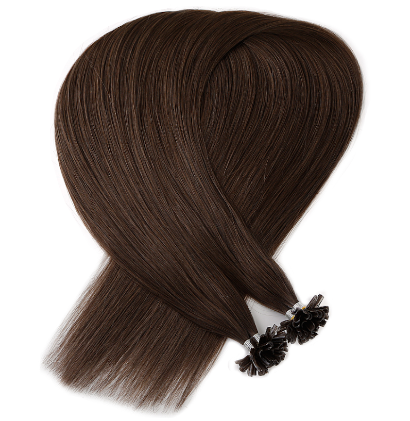 Chocolate Brown Keratin Bond Tip Hair Extensions