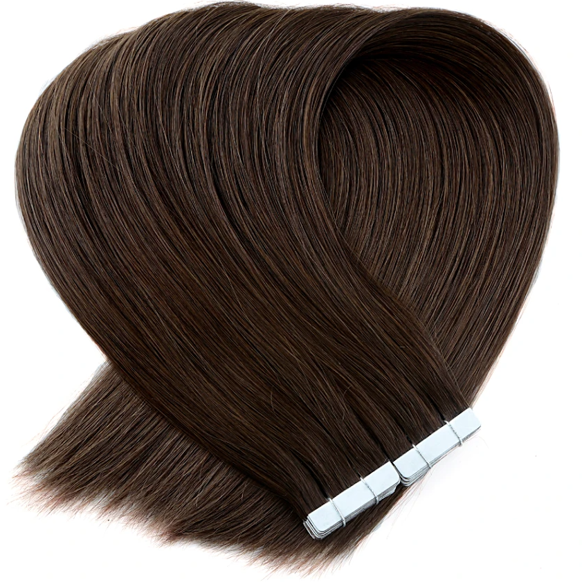 Cool Chocolate Brown Tape in Hair Extensions