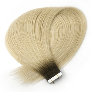 Shadow Rooted Light golden Blonde Tape in Hair Extensions