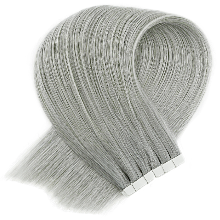 Steel Grey Tape in Hair Extensions