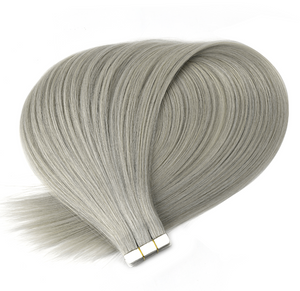 Silver Grey Tape in Hair Extensions