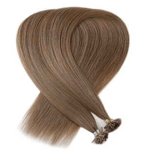 Light Honey Ash Brown Keratin Bond Tip Hair Extensions