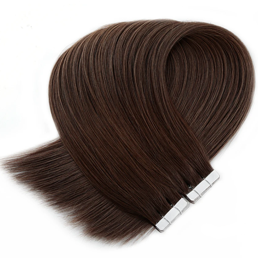 Light Chocolate Brown Tape in Hair Extensions