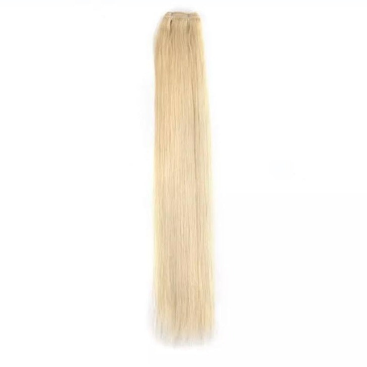 Light Golden Blonde Weft Hair Extensions