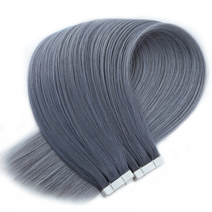Dark Grey Tape in Hair Extensions