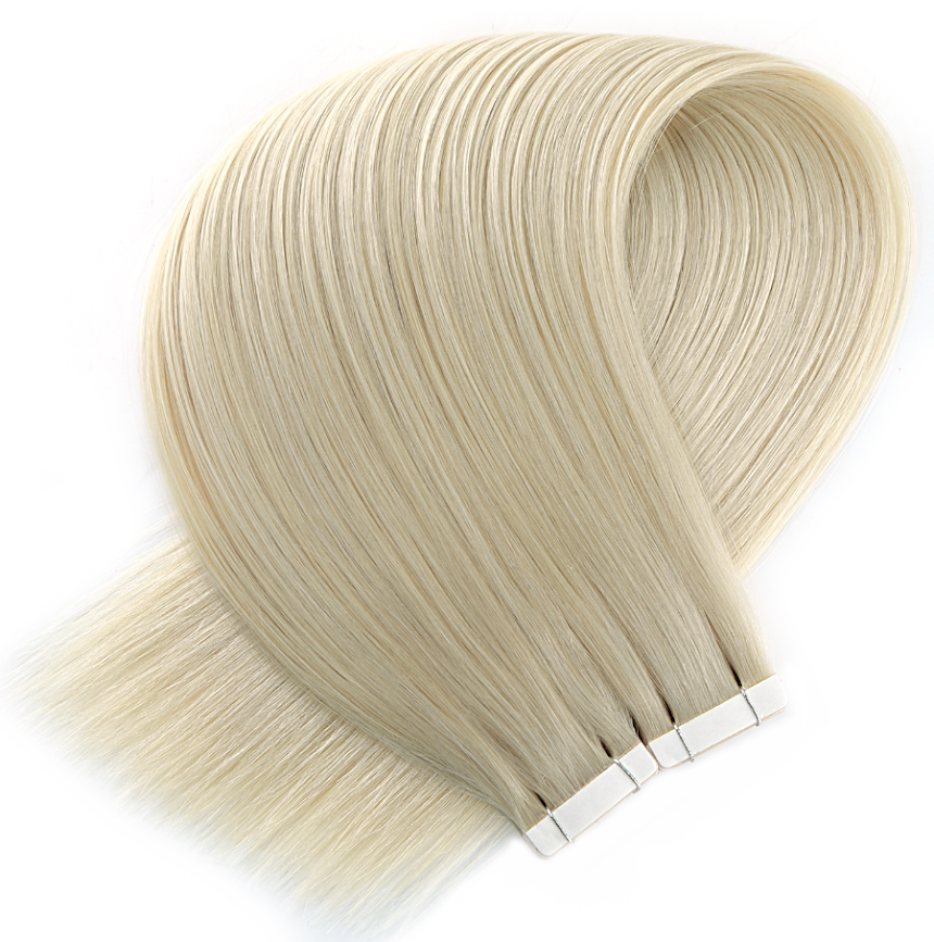 Light Ash Blonde Tape in Hair Extensions