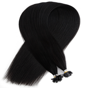Darkest Black Keratin Bond Tip Hair Extensions