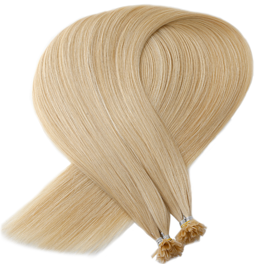 Light Blonde Keratin Bond Tip Hair Extensions