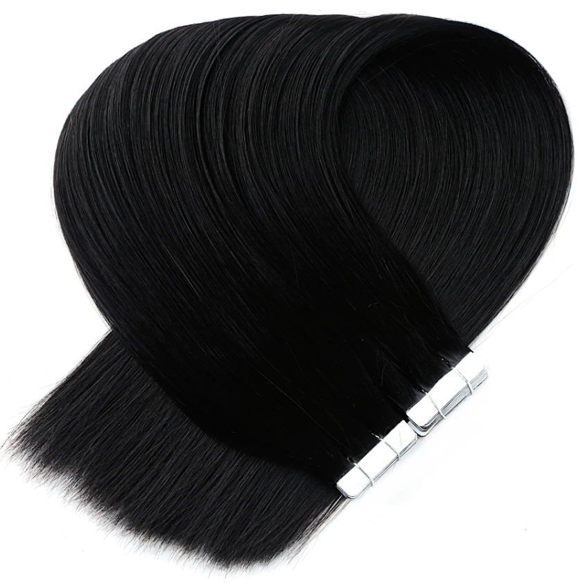 Darkest Black Tape in Hair Extensions