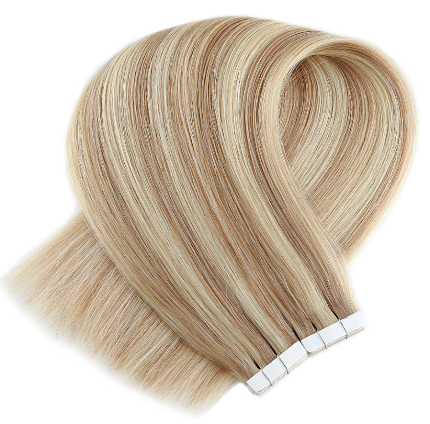 Honey Blonde With Golden Blonde Highlights Tape in Hair Extensions