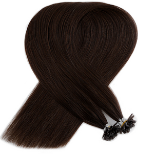 Cool Chocolate Brown Keratin Bond Tip Hair Extensions
