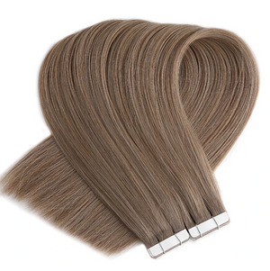 Light Honey Ash Brown Tape in Hair Extensions