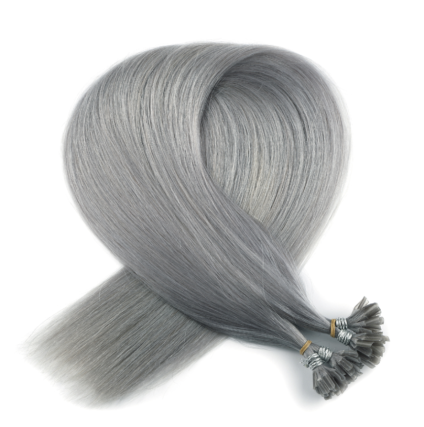 Dark Grey Keratin Bond Tip Hair Extensions
