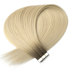 Shadow Rooted Light Ash Blonde Tape in Hair Extensions
