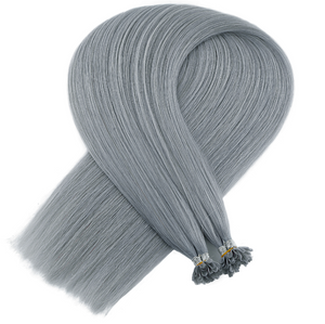Steel Grey Keratin Bond Tip Hair Extensions