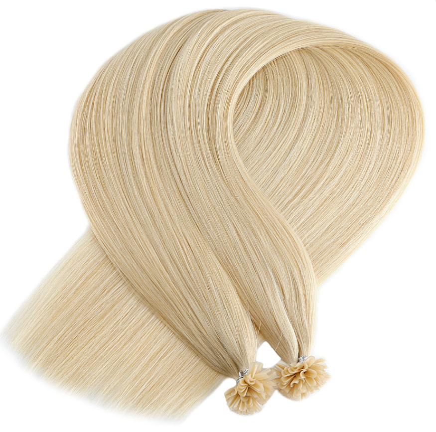 Light Golden Blonde Keratin Bond Tip Hair Extensions