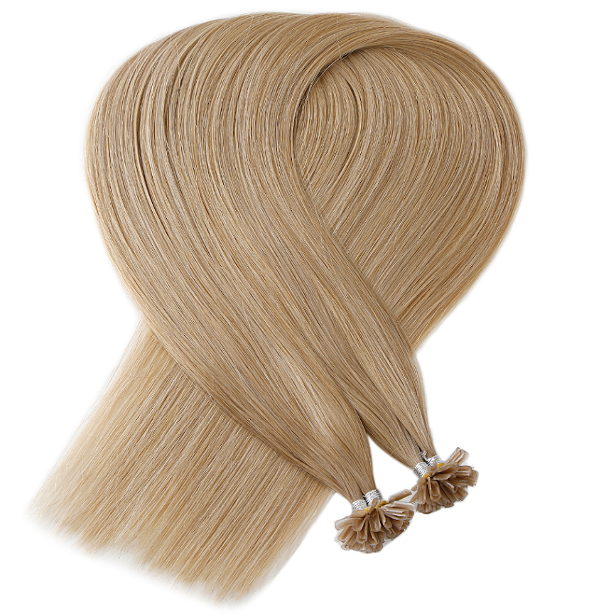 Sandy Beige Natural Blonde Keratin Bond Tip Hair Extensions