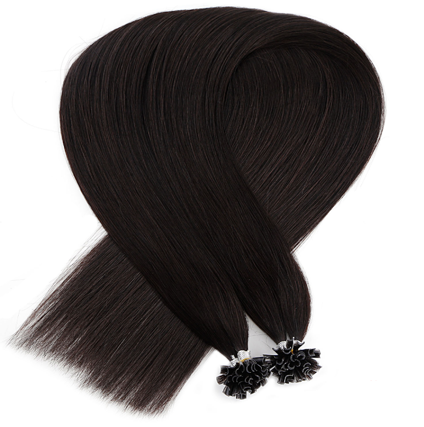 Dark Brown Keratin Bond Tip Hair Extensions