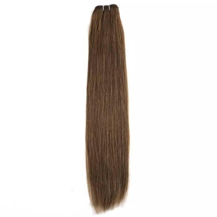 Light Chocolate Brown Weft Hair Extensions