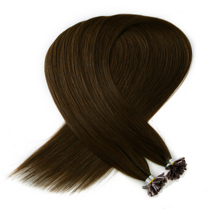 Light Chocolate Brown Keratin Bond Tip Hair Extensions