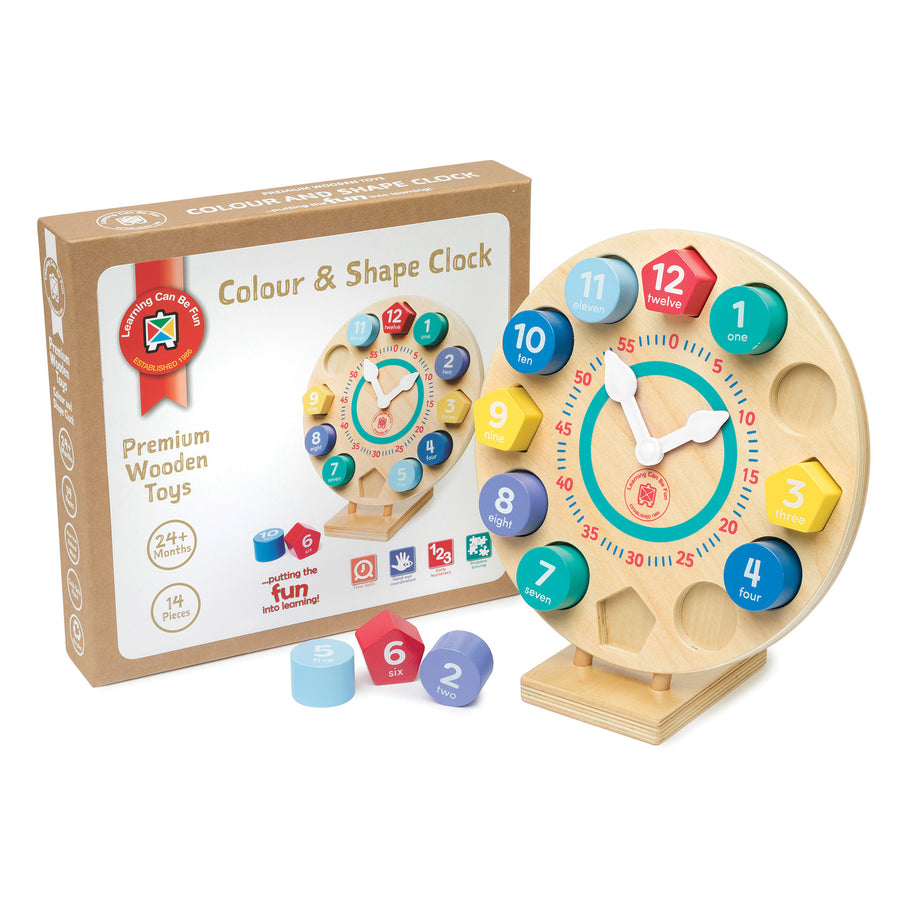 Colour and Shape Clock