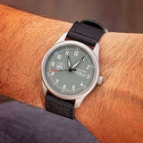 Minuteman  A11 Field Watch Powered by Ameriquartz USA Movt Black Nylon Strap Battleship Grey Dial