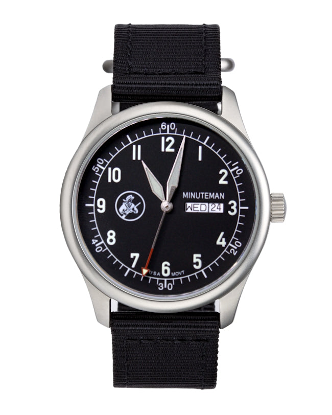 Pre-order Minuteman A11 Field Watch Black Dial Powered by Ameriquartz,minutemanwatches,Minuteman,Wrist Watch